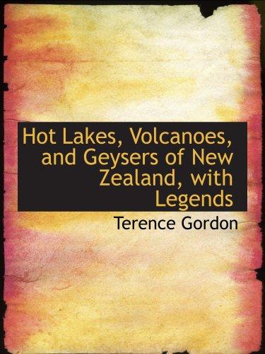 Chaud des lacs, des volcans et des Geysers de la Nouvelle-Zélande, avec légendes