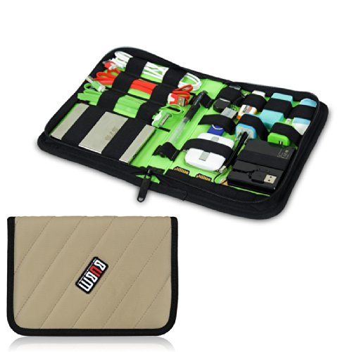 Damai Portable Electronics Accessories Organizer / Travel Organiser / Hard Drive Case/ Baby Healthcare & Grooming Kit-6 Color (Khaki) front-835969