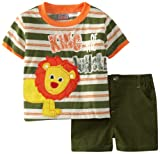 Little Rebels Baby-Boys Infant 2 Piece King Of The Jungle Short Set