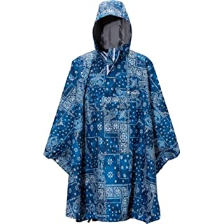 (コロンビア)Columbia Womack Poncho PU1038-S12 464 Collegiate Navy Patchwork M