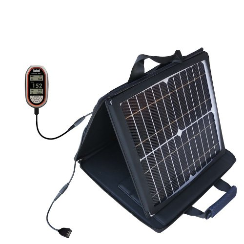 Gomadic Sunvolt Powerful And Portable Solar Charger Suitable For The Bushnell Yardage Pro - Incredible Charge Speeds For Up To Two Devices