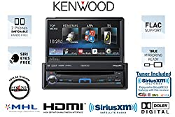 See Kenwood KVT-7012BT In Dash Single Din Flip out Monitor with Bluetooth and Satellite Radio Tuner, Antenna and a FREE SOTS Air Freshener Details