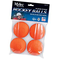 Buy Mylec Inc. 118 No Bounce Hockey Ball - 4 Pack Carded by Mylec