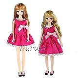 「Barwawa」リカちゃん ドレス ジェニー 着物 可愛い 人形用 プリンセスドレス 手作り  靴付き