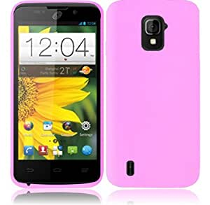 For ZTE Majesty Z796C Silicone Jelly Skin Cover Case (Light Pink)