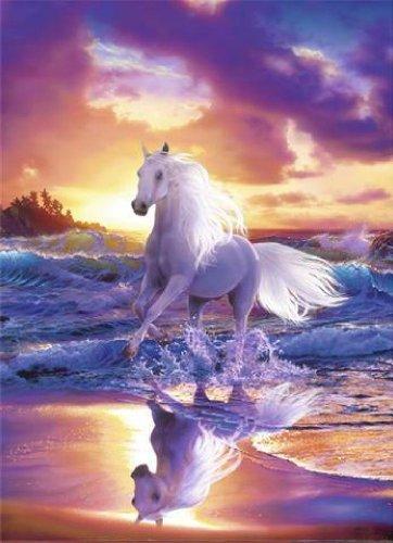 40519 Pferde - Fantasy 4-teilig, Fototapete Poster-Tapete (254 x 183 cm)