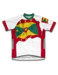 Grenada Flag Short Sleeve Cycling Jersey for Women