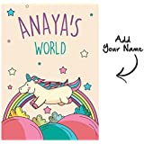 WALL STICKERS FOR KIDS ROOM - PERSONALIZED KIDS ROOM DÉCOR - Waterproof And Non Tearable - A3 (11.5 IN X 16 IN ) Size CUSTOMISED POSTER - Wall / Room / Door Posters & Artwork With Name Printing - Full Self Adhesive Sticking - Matte Finish