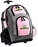 University of Oregon Rolling Backpack Deluxe Pink UO Ducks Backpacks Bags with