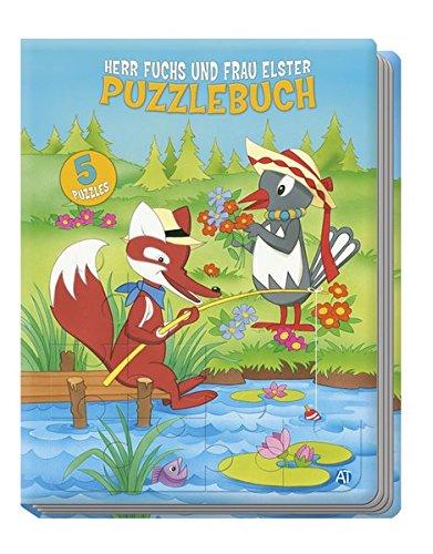 puzzlebuch herr fuchs und frau elster mit 5 puzzles. Black Bedroom Furniture Sets. Home Design Ideas