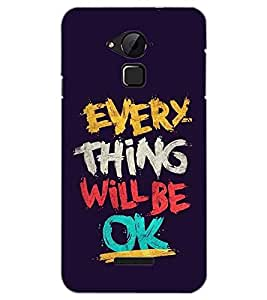 PrintDhaba QUOTE D-6867 Back Case Cover for COOLPAD NOTE 3 LITE (Multi-Coloured)