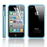 KingPower Tech® Bumper Case For Apple iPhone 4S/4 With Free Screen Protector & Cloth - Clear/Baby blue