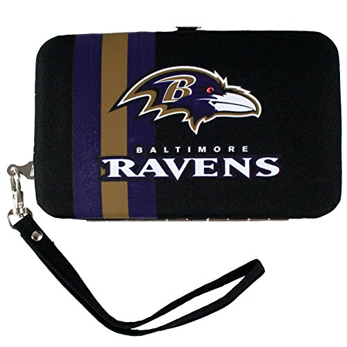 nfl-baltimore-ravens-shell-wristlet-35-x-05-x-6-inch-blue-by-littlearth