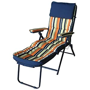 Papillon sedia sdraio in acciaio imbottita e poggiatesta for Sedia sdraio imbottita prezzi