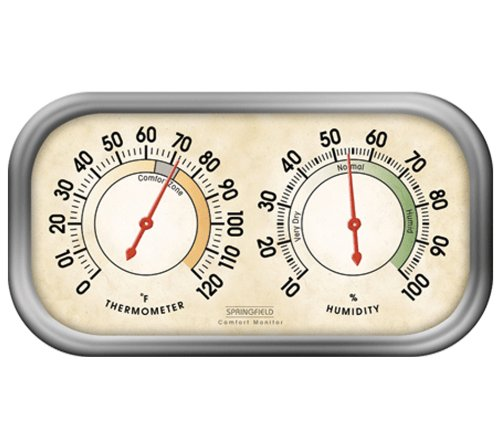 Springfield Color Track Humidity Meter and Thermometer - 1
