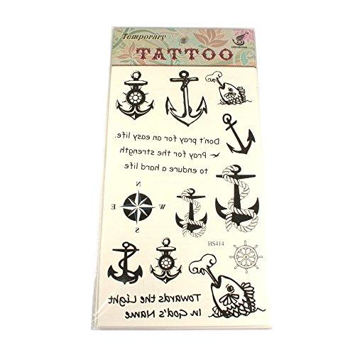 Tattoos mit anker motiven fischen steuerruder kompass - Anker englisch ...