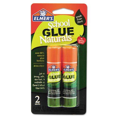 Elmer'S School Glue Naturals, Clear, 0.21 Oz Stick, 2 Per Pack front-177192