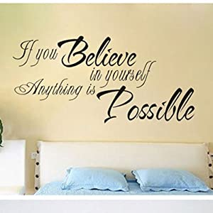 23 6 X 11 8 Inspirational Quotes Wall Stickers Art Decor For Girls Bedroom Quote Walll Sticker