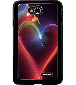 ColourCraft Lovely Heart Design Back Case Cover for LG L70