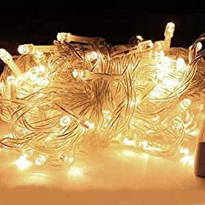 5m*0.4/0.6/0.8m 216 LEDs Wavy Icicle Lights Waterproof Fairy Window Curtain String Lights 8 Modes Linkable Design Indoor Outdoor Home Garden DIY Wedding Festival Decorations Christmas Party by EINSKEY