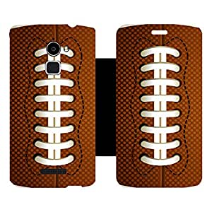 Skintice Designer Flip Cover with Vinyl wrap-around for Coolpad Note 3 Lite, Design - Football