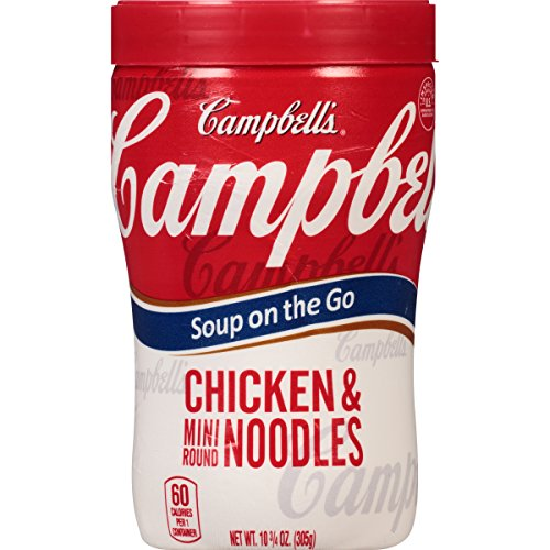 Campbell's Soup on the Go, Chicken & Mini Round Noodles, 10.75 Ounce (Pack of 8) (Campbells Soup Chicken Noodle compare prices)