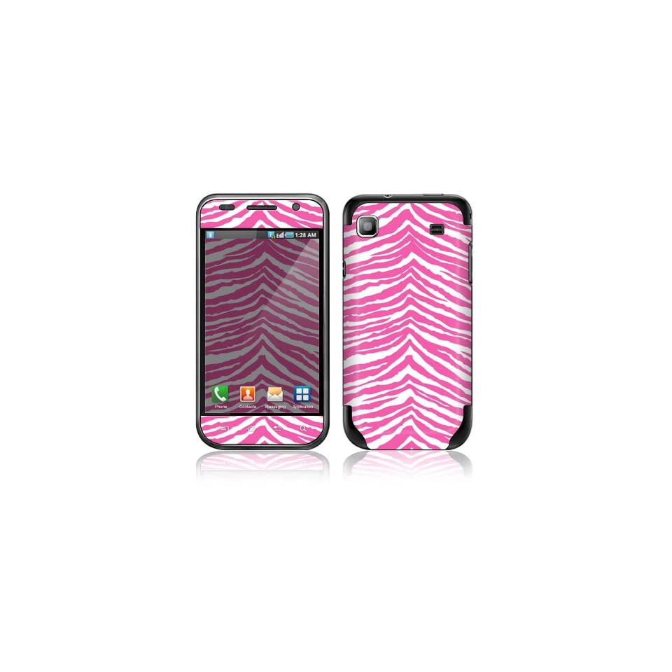 Pink Zebra Decorative Skin Cover Decal Sticker for Samsung Vibrant SGH T959 Cell Phone