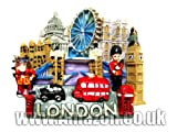 London Souvenir Large Polyresin Fridge Magnet-London Everything