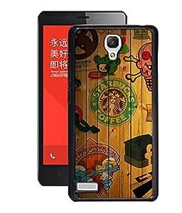 Crazymonk Premium Digital Printed 3D Back Cover For Xiaomi Redmi Note 4G