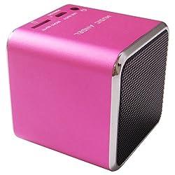 Original Music Angel JH-MD06D TF card Portable Mini Digital Speaker W/ Download Function Pink