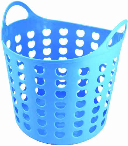 Elliott's Funky Cleaning Plastic Laundry Basket, Blue