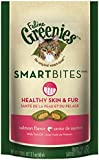 FELINE GREENIES SMARTBITES Healthy Skin and Fur Treats for Cats Salmon Flavor - 2.1 oz.
