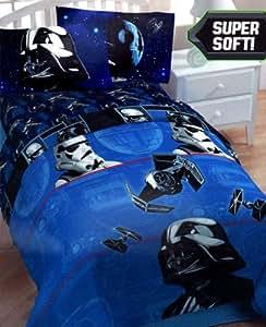 star wars darth vader twin bedding comforter home kitchen. Black Bedroom Furniture Sets. Home Design Ideas