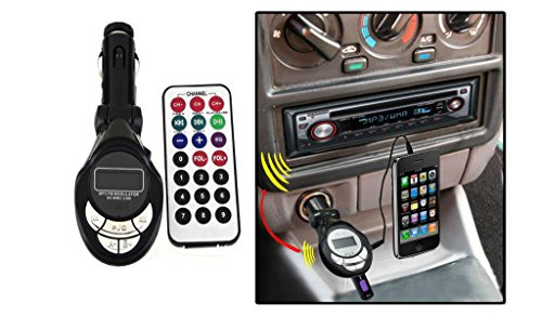 ACE Car Mp3 FM Modulator Transmitter With USB & Memory Card Slots