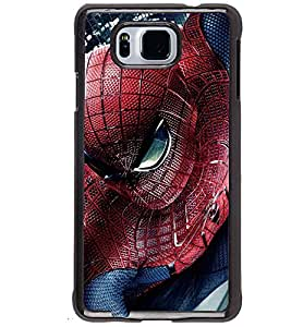 Printvisa Spider Man In Action Back Case Cover for Samsung Galaxy Alpha G850