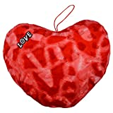 Style Addict Soft Printed Plush Heart No.5 Soft Toy, Red