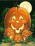Moms & Pumpkins Family Garden Flag Halloween Jack O'Lantern Moonlight 12