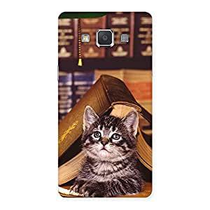 Gorgeous Cat Book Back Case Cover for Galaxy Grand Max