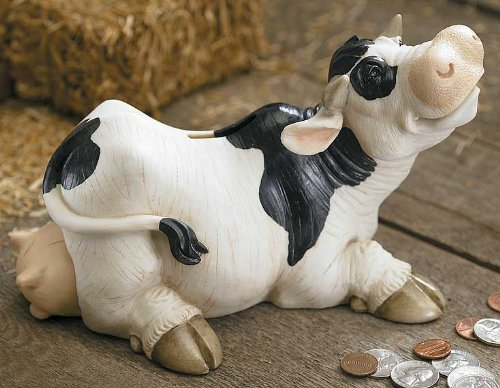 Clairissa Cow Coin Piggy Bank - 1