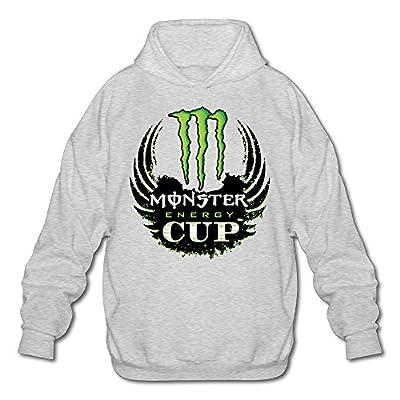 XJBD Men's Cup Logo Attractive Hooded Sweatshirt Ash