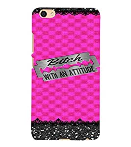 PrintVisa Attitude Girl Blade Design 3D Hard Polycarbonate Designer Back Case Cover for VIVO X7