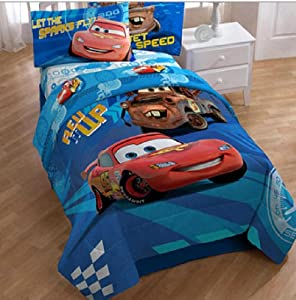 cars 2 ensemble de literie lit simple 4 en 1 set couette drap housse drap d 39 oreiller. Black Bedroom Furniture Sets. Home Design Ideas