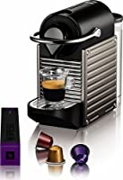 Pixie D60 Electric Espresso Machine Finish: Titan by Nespresso