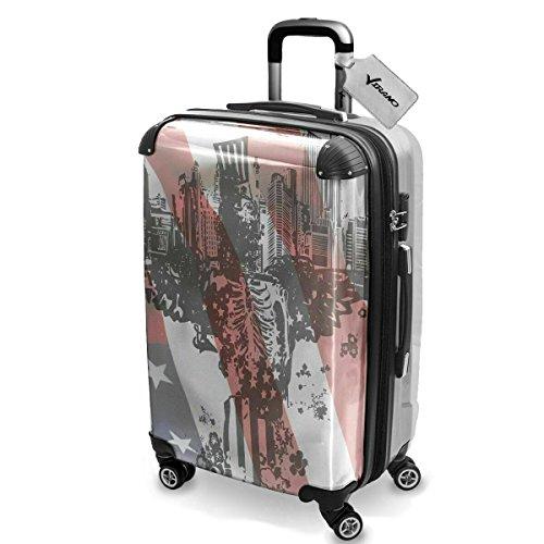 Urban 10005, Luggage Valigia Bagaglio Ultraleggero Trasportabile Rigido con 4 Route e Disegno Intercambiabile. Dimensione: Grande, L