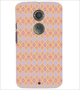 PrintDhaba Pattern D-5166 Back Case Cover for MOTOROLA MOTO X2 (Multi-Coloured)