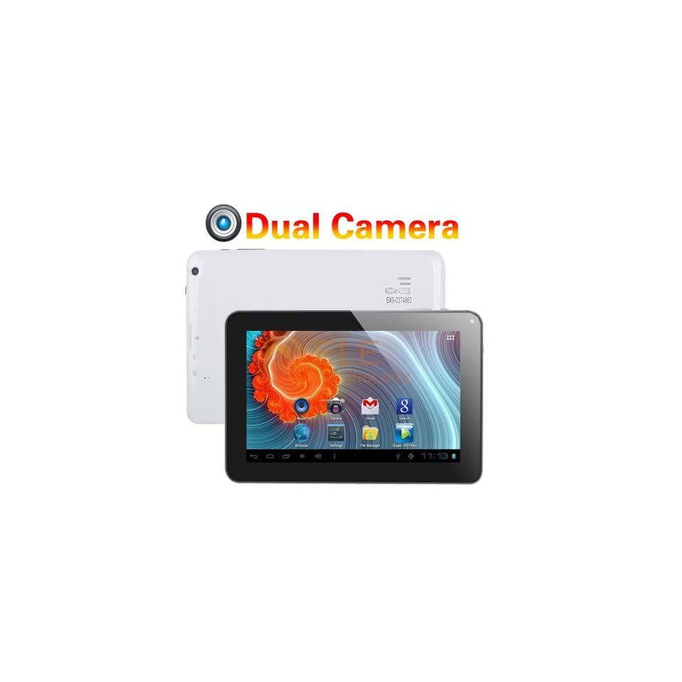 Afunta(tm) 9.2 Google Android 4.0 512mb/8gb Tablet Dual Camera Capacitive Multiple Touch Screen G sensor A13 Tablet, 3d Games Skype Video Calling, Netflix Movies (Dual Camera, White)