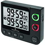 MARATHON TI030017BK Large Display 100 Hour Dual Count UP/Down Timer, Black - Battery Included