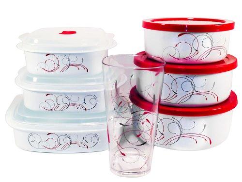 Corelle Splendor Bundle, Includes Bowl Set, Microwave Set, and Acrylic Glass Cups Corelle Coordinates Mixing Bowls Storage Bowls 6 Piece Acrylic Glass Cups