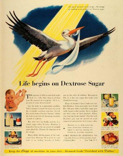 1942 Ad Dextrose Sugar Sunshine Stork Baby Foods Enriched Formula Juice Candy - Original Print Ad front-1070274