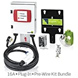Evr-Green 160 Level 2, 16A, 240V Electric Vehicle Charging Station, 3.8kW output, cord-connected (plug-in) and 20A Pre-Wire Installation Kit